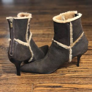 CASADEI: Shearling fur trimmed Booties